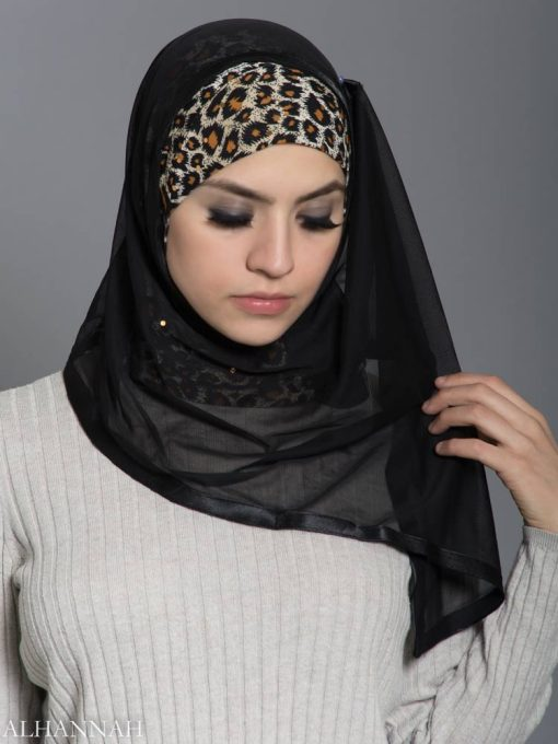 Leopard Kuwaiti Hijab hi2177 front