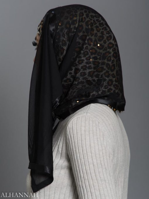 Leopard Kuwaiti Hijab hi2177 side