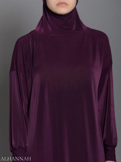 Plain Purple Prayer Outfit closeup