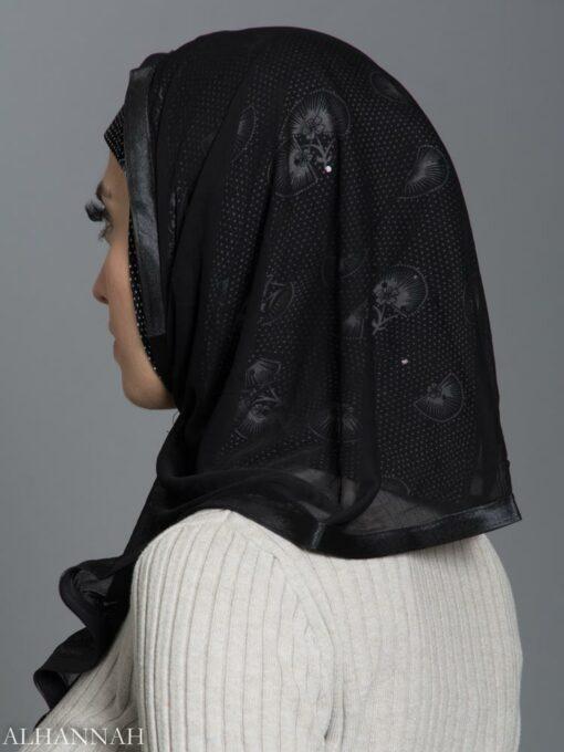 Polka Dot Lilly Kuwaiti Wrap Hijab hi2178 side