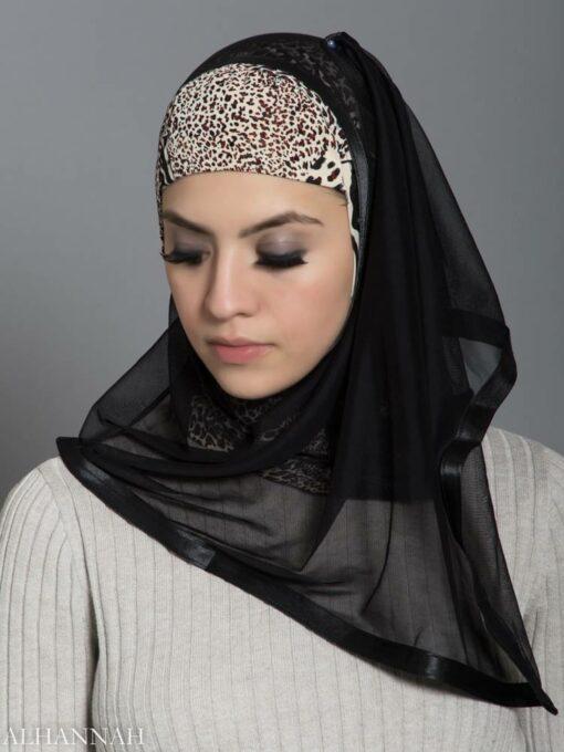 Speckled Leopard Kuwaiti Wrap Hijab hi2188 front