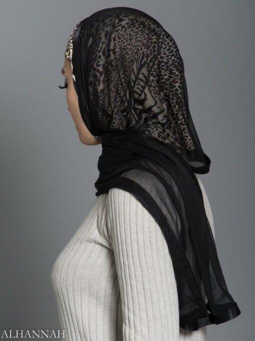 Speckled Leopard Kuwaiti Wrap Hijab hi2188 side
