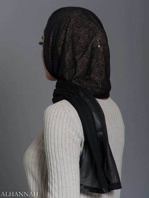 Sunflower Swirls Kuwaiti Wrap Hijab hi2180 side