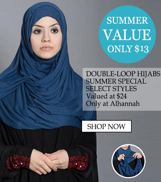 Двоен јамка Hijabs само $ 13 лето 2019