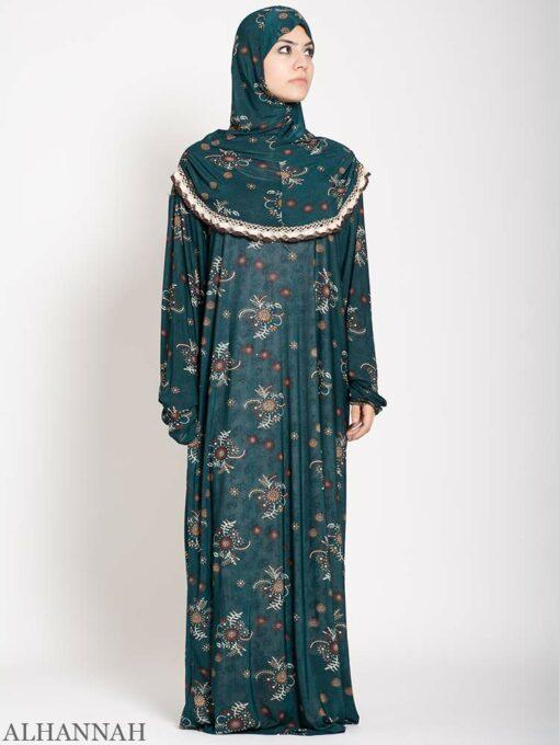 Aquamarine Floral Prayer Outfit 2