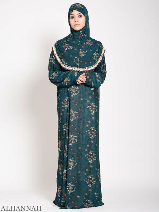 Aquamarine Floral Prayer Outfit