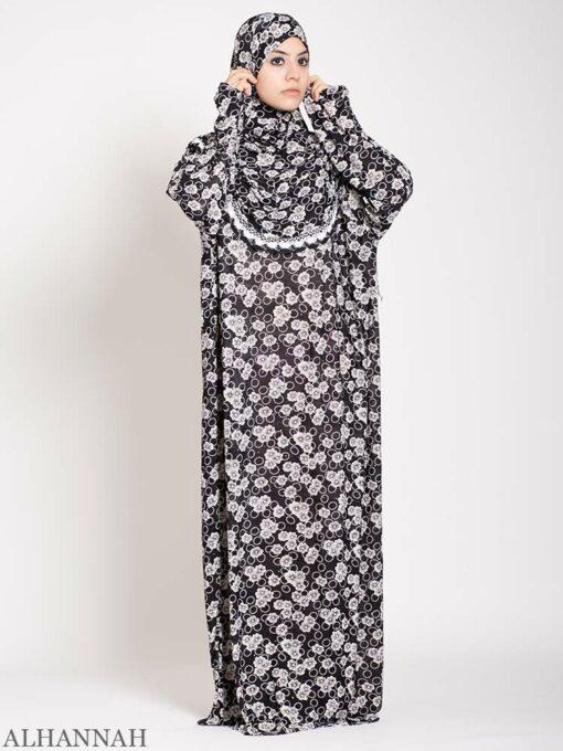 Black Floral Sparkle Prayer Outfit