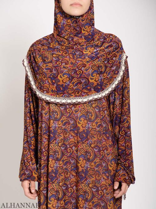 Copper Paisley Prayer Outfit close up
