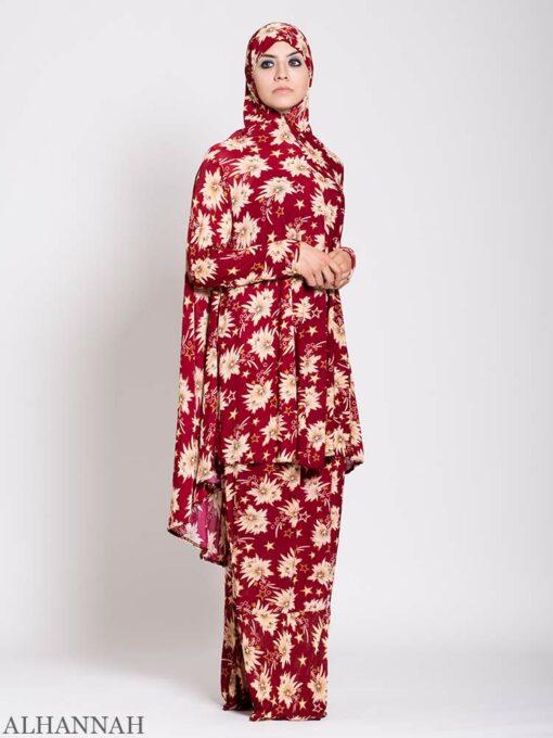 Floral Star Burst 2 piece Prayer outfit 2