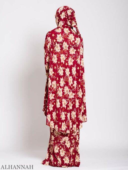 Floral Star Burst 2 piece Prayer outfit Back