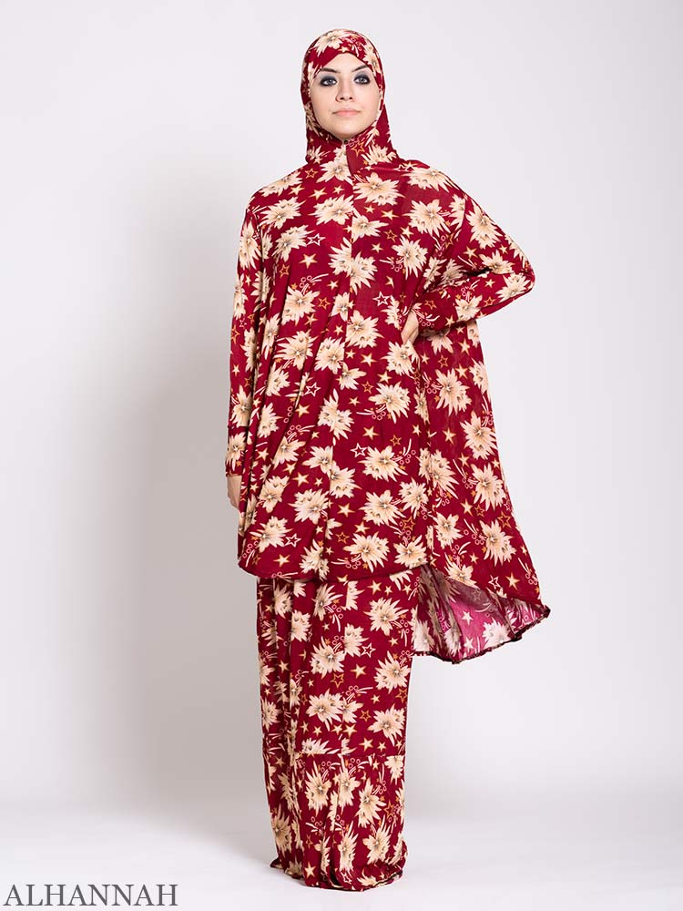 Floral Star Burst 2 piece Prayer outfit