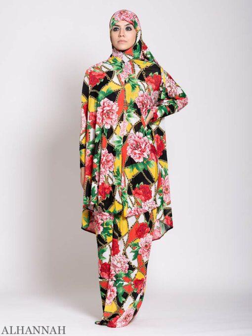 Floral Tropics 2 Piece Prayer outfit 2