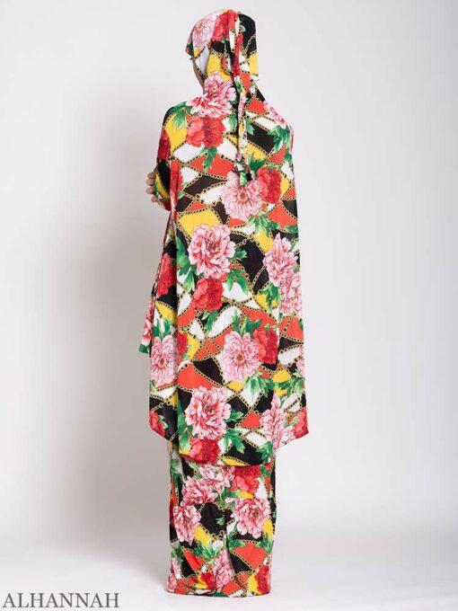 Floral Tropics 2 Piece Prayer outfit back
