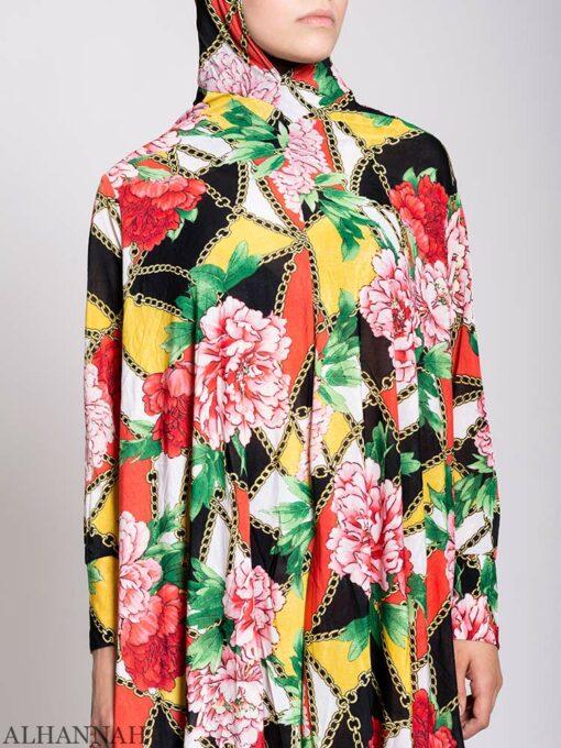 Floral Tropics 2 Piece Prayer outfit close up