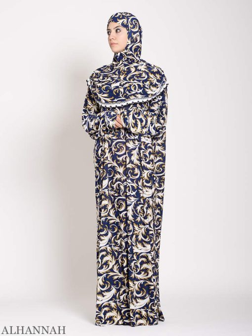 Lapis Damask one piece Prayer outfit 2