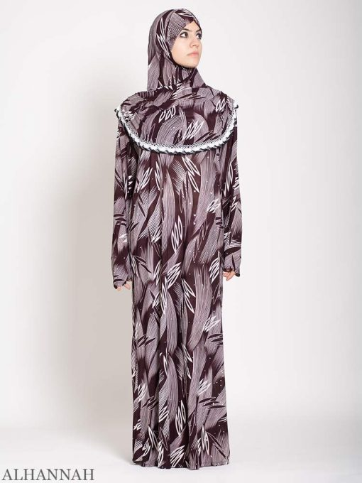 Maroon abstract Prayer outfit