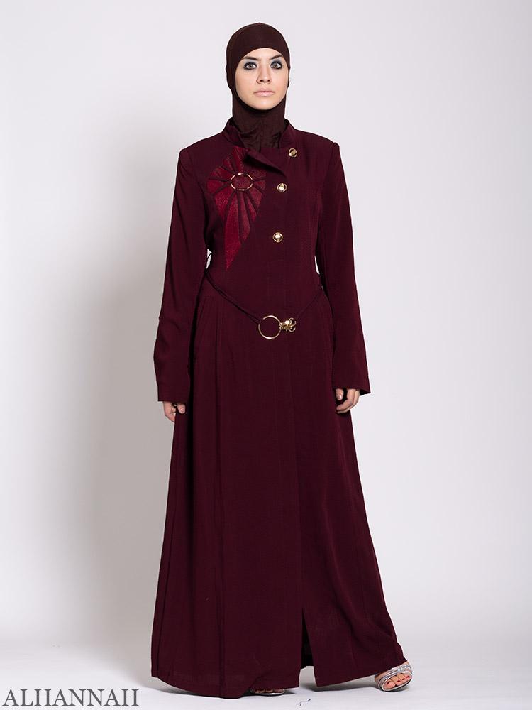 Premium Jordanian Style Jilbab Maroon
