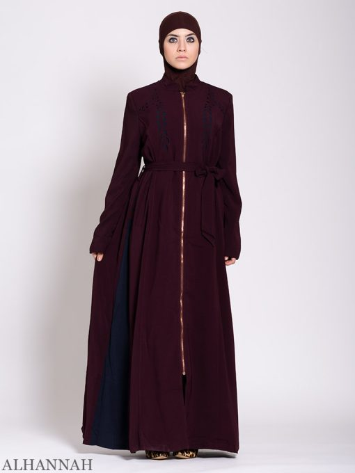 Premium Jilbab with Side Panels Maroon