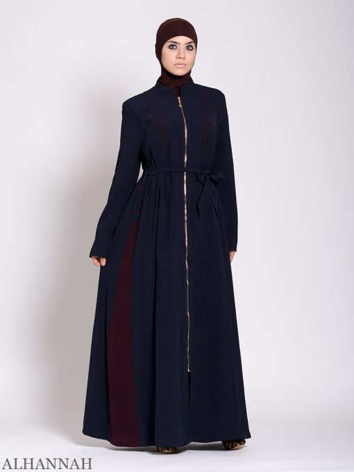 Premium Jilbab with Side Panels Navy