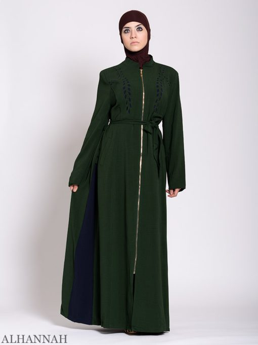 Premium Jilbab with Side Panels Pine