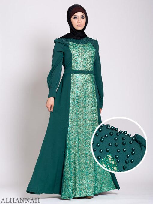 Arabesque Sequin Abaya Gown