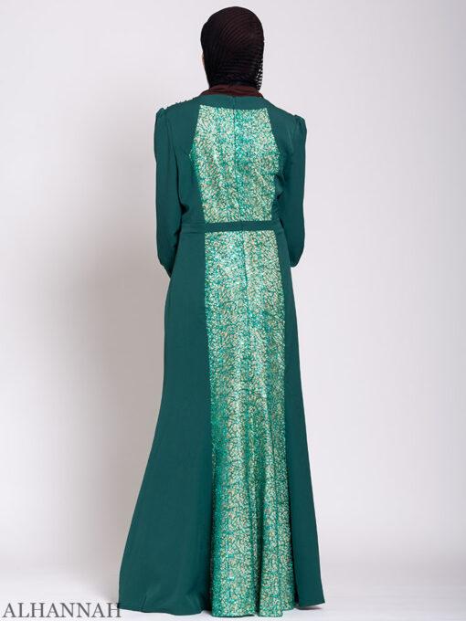Arabesque Sequin Abaya Gown Back