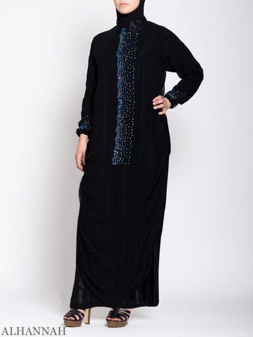 Beaded Black Abaya