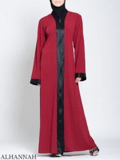 Classic Zip Front Abaya