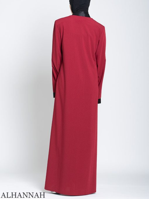 Classic Zip Front Abaya Back
