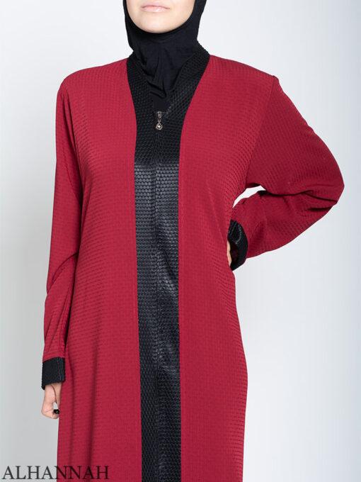 Classic Zip Front Abaya Close Up