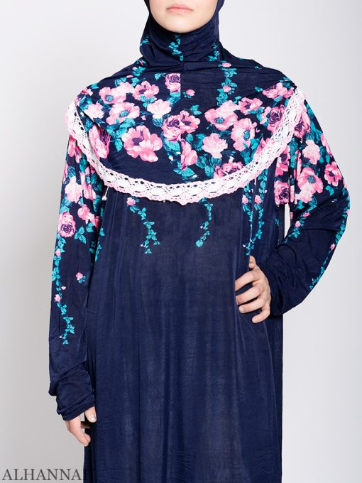 Floral Nostalgia One Piece Prayer Outfit ps531 close up