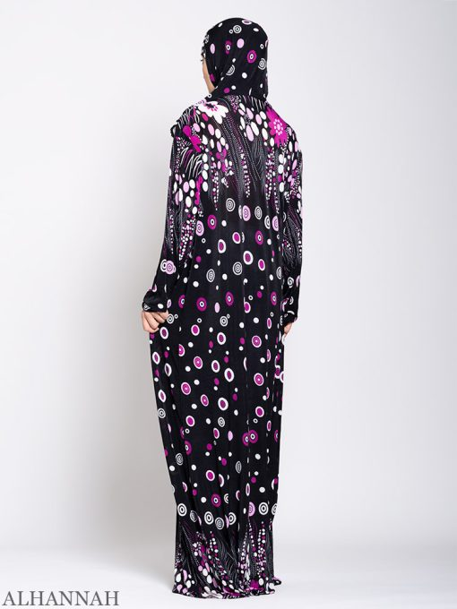 Floral Treasures One Piece Prayer Outfit ps535 Back