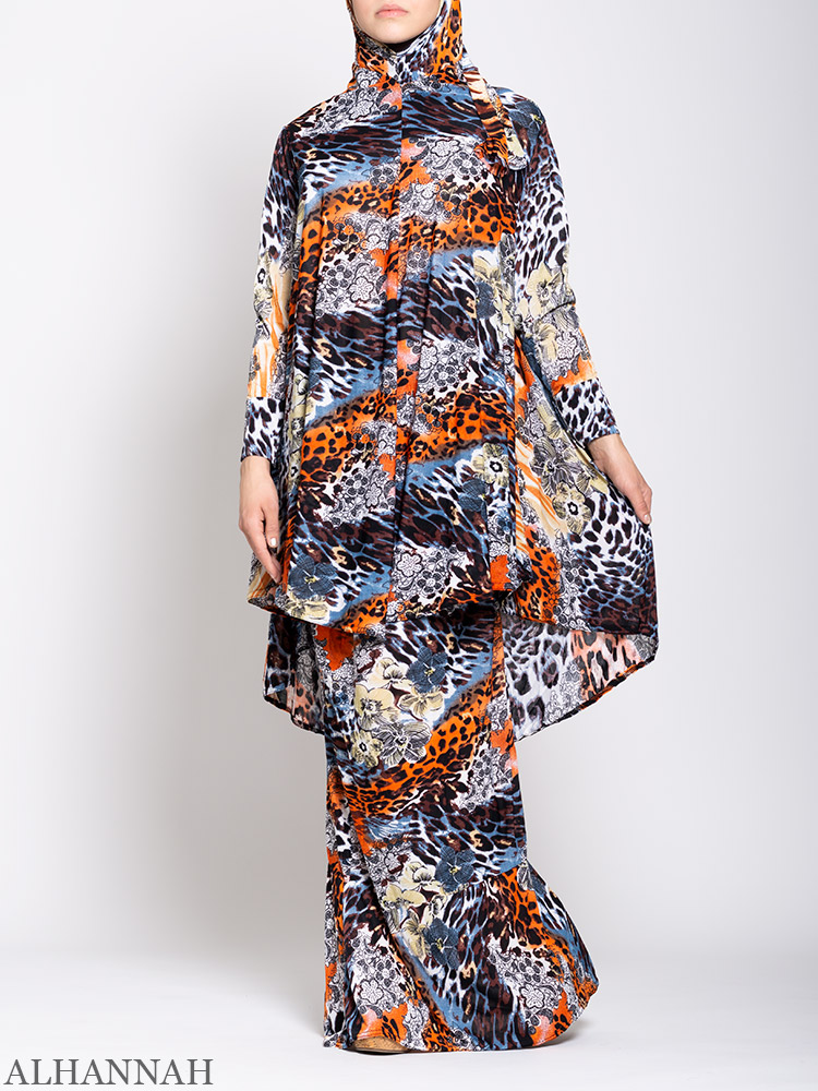 Jungle Patchwork Two Piece Prayer Outfit