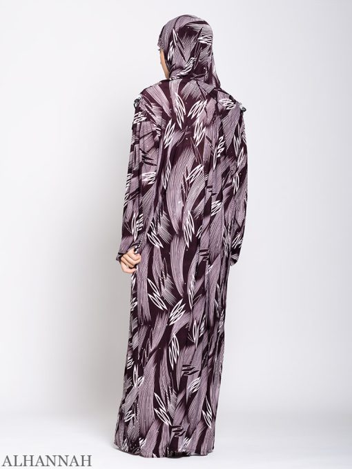 Maroon Abstract One Piece Prayer Outfit ps533 Back