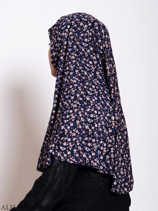 Navy Calico Amira Hijab Side