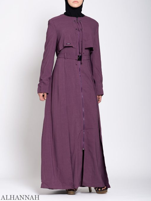 Turkish Style Abaya Plum