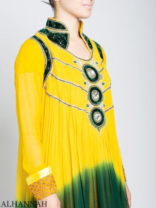 Embellished Velvet Trimmed Rhinestone Pineapple Salwar Kameez sk1245 Close Up
