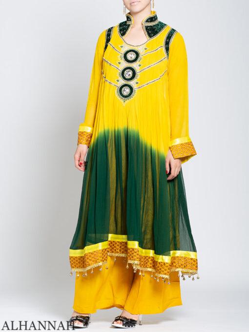 Embellished Velvet Trimmed Rhinestone Pineapple Salwar Kameez sk1245 Front