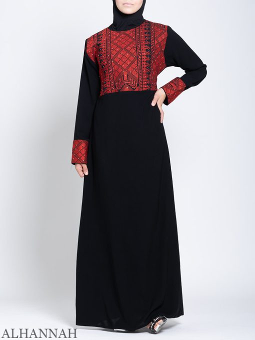 Fellaha Thobe with Red Embroidery 2