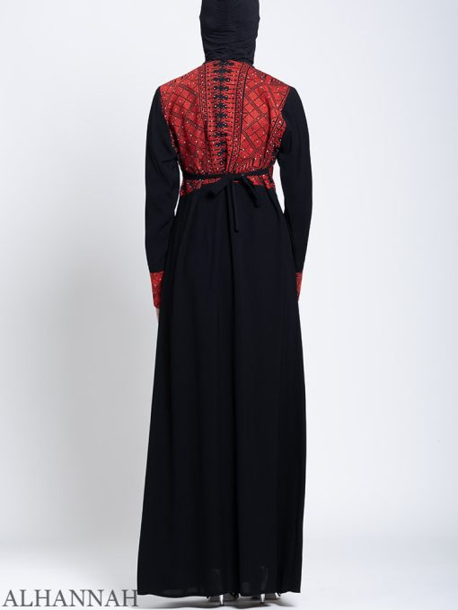 Fellaha Thobe with Red Embroidery Back