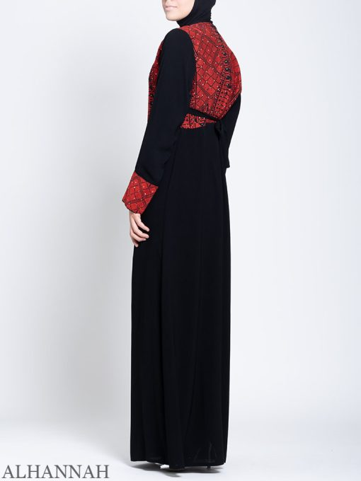 Fellaha Thobe with Red Embroidery Side