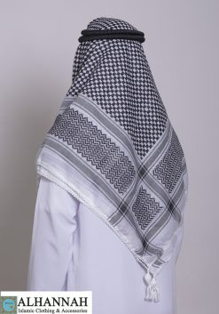 Premium Shemagh in Black and White Pattern