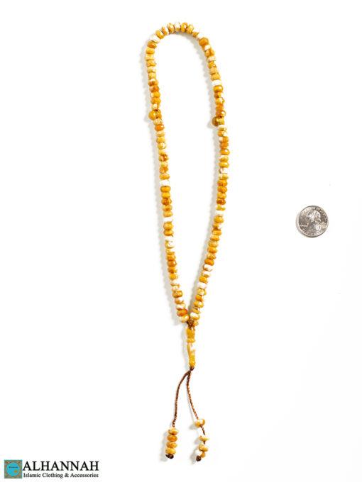 99 Acrylic Misbah Islam Prayer Beads Wheat 2