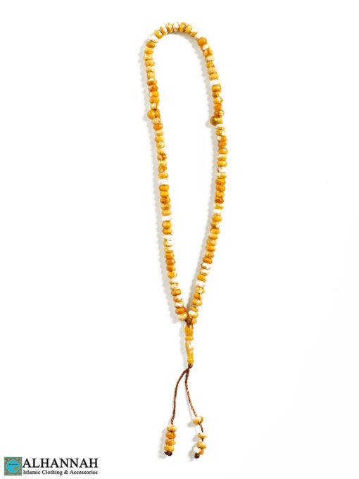 99 Acrylic Misbah Islam Prayer Beads Wheat