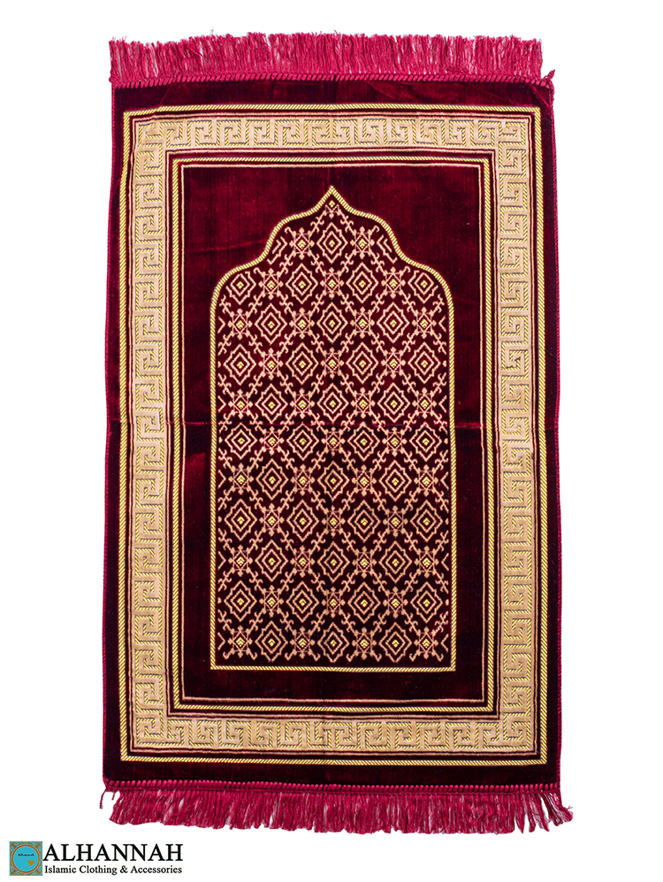 Prayer Rug Geometric Border