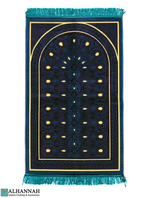 Prayer Rug Teal Print