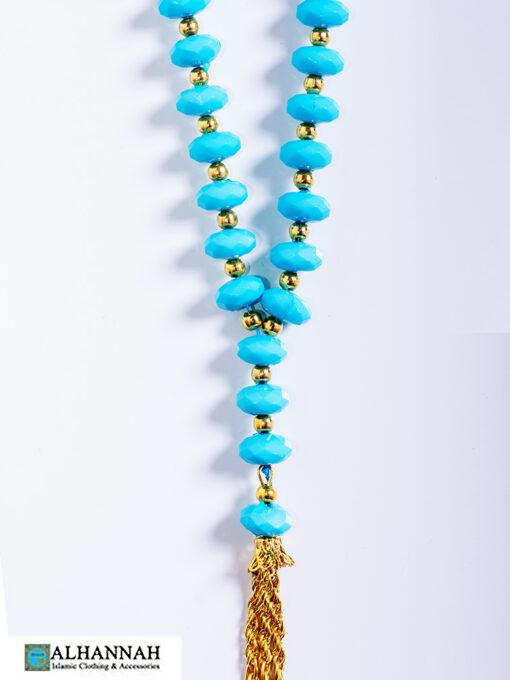 Turquoise Tisbah Islam Prayer Beads-16-Closeup