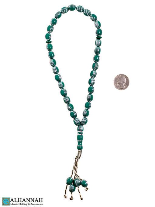 Green Tasbih beads 2