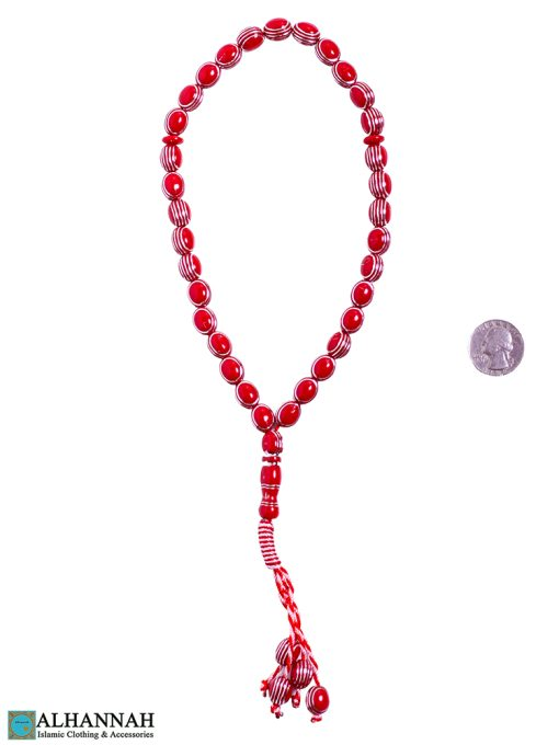 Red Tasbih beads 2
