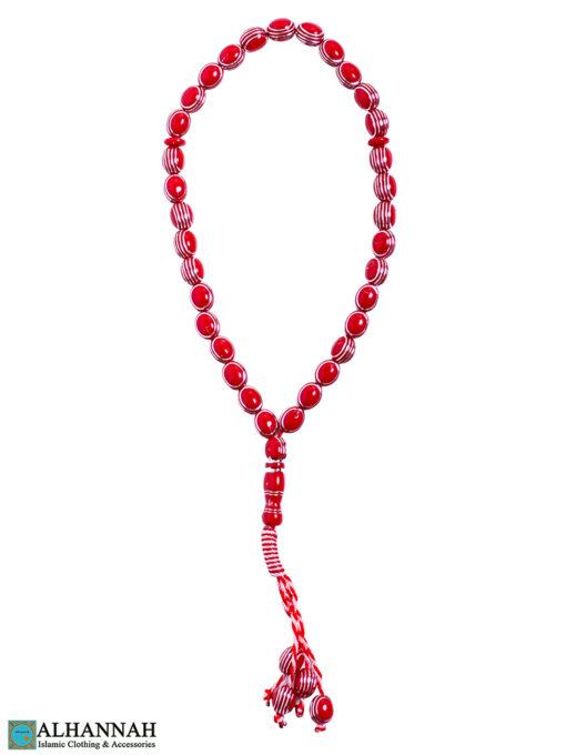 Red Tasbih beads
